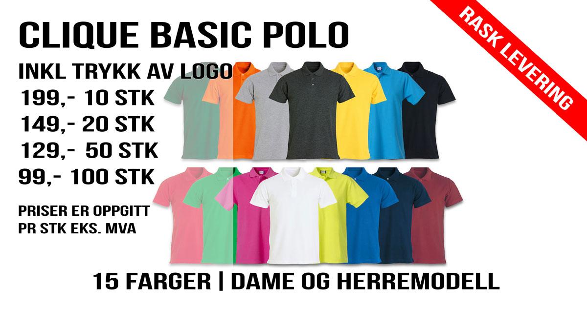 Pique med tyrkk Banner Basic polo