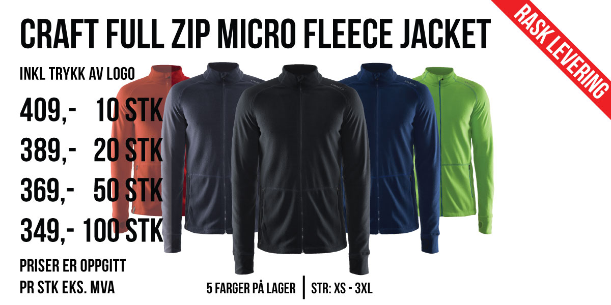Craft_Full_Zip_Micro_Fleece_Jacket_Forsidebilde